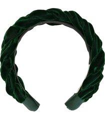 jennifer behr lorelei velvet headband - green