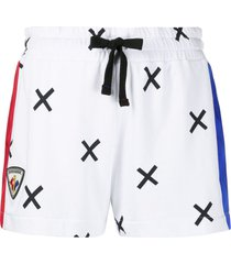 rossignol cross print track shorts - white
