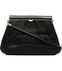a.n.g.e.l.o. vintage cult 1970s pleated detail shoulder bag - black