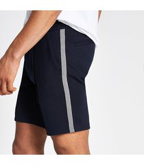 river island mens navy sid skinny tape side shorts