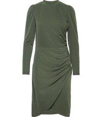kastanje dress knälång klänning grön minus
