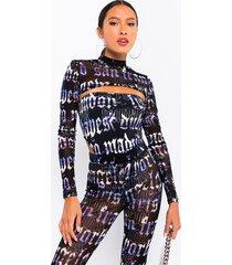 akira it's over mesh tube bodysuit