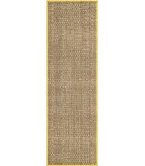 "safavieh natural fiber natural and gold 2'6"" x 8' sisal weave runner area rug"