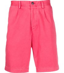 boss pleated-front chino shorts - pink