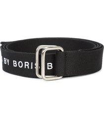 11 by boris bidjan saberi logo embroidered belt - black