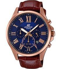 reloj casio efv-500gl-2av rosa cuero
