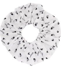off-white logo-print hair tie