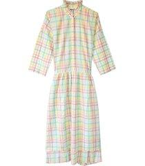 les madras dress in pastel