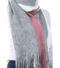 women's stripe fringe scarf
