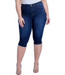 seven7 jeans trendy plus size the breezy slim crop jeans