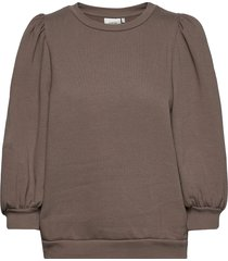 nankitagz sweatshirt t-shirts & tops long-sleeved bruin gestuz