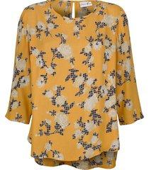blus dress in gul