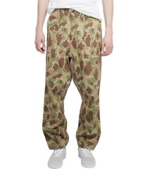 universal works camo fatigue trousers