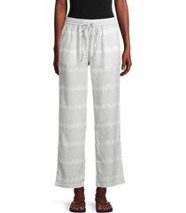saks fifth avenue women's tonal tie-dye pants - grey white - size xs