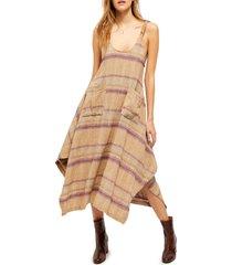 women's free people harper sleeveless stripe midi dress