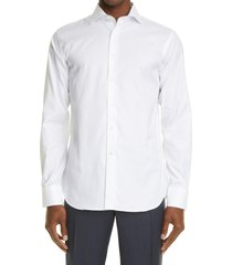 canali solid dress shirt, size 16.5 in white at nordstrom
