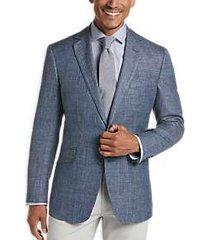 joseph abboud indigo blue modern fit sport coat blue herringbone