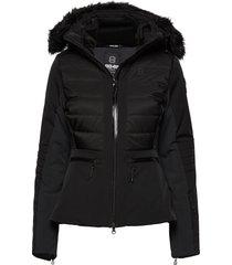 cristal jacket gevoerd jack zwart 8848 altitude
