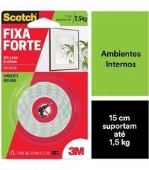 fita adesiva dupla face scotch 3m com espuma uso interno 24mmx1,5m