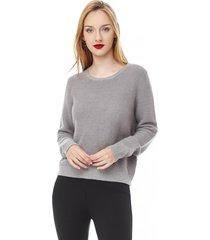 sweater basico mujer gris corona