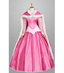princess aurora dress aurora costume sleeping beauty pink dress with cape