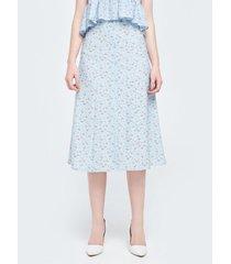falda midi miniprint floral