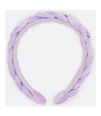 tiara de veludo trançada | accessories | lilás | u