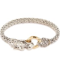'legends naga' silver gold bracelet