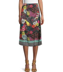 alice + olivia by stacey bendet women's athena floral skirt - retro floral multi - size 0