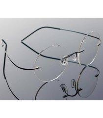 vintage rimless steve jobs mens round titanium eyeglasses glasses frames rx