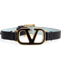 women's valentino leather bracelet