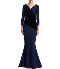 erendira velvet mm long sleeve gown