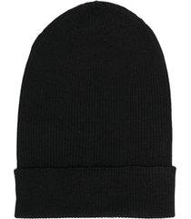 dolce & gabbana fine-knit beanie - black