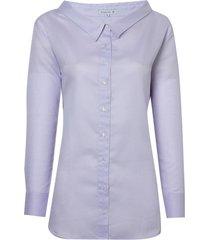 camisa dudalina manga longa decote aberto feminina (roxo claro, 42)