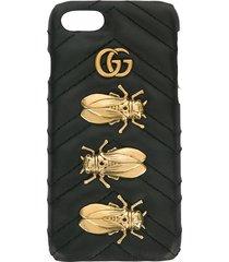 gucci animal studs iphone 6/7 case - black