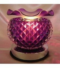 purple pineapple glass touch lamp oil/tart warmer - use with scentsy wax