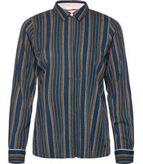nubehati jellypalm shirt långärmad skjorta blå nümph