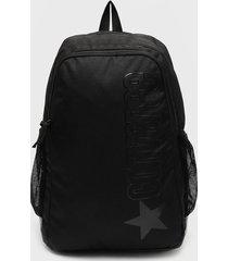 mochila  wordmark speed   backpack negro converse