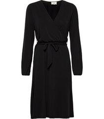 missa drape dress jurk knielengte zwart second female
