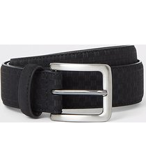 river island mens black faux suede ri monogram belt
