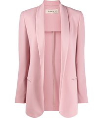 blanca vita loose-fit open-front blazer - pink