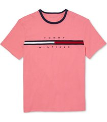 tommy hilfiger adaptive men's tino washed t-shirt with magnetic shoulder closures
