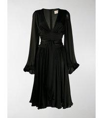 alexandre vauthier v-neck flared dress