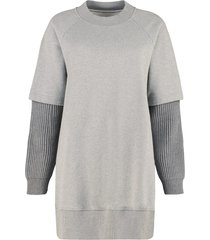 mm6 maison margiela oversize cotton sweatshirt