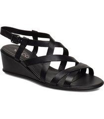 shape 35 wedge sandal shoes summer shoes flat sandals svart ecco