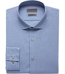 calvin klein navy check extreme slim fit dress shirt