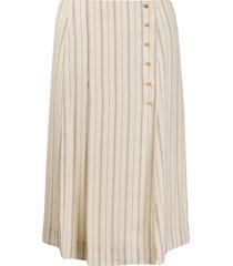 chloé striped straight skirt - neutrals