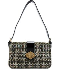 kurt geiger london women's mini textured crossbody bag - charcoal