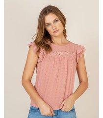 camisa apliques tejidos