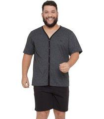 pijama masculino plus size com abertura frontal luna cuore